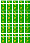 Erin Go Bragh Stickers - 65 per sheet